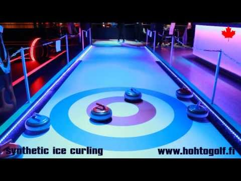 Curling on synthetic ice - Hohtogolf West Coast Turku