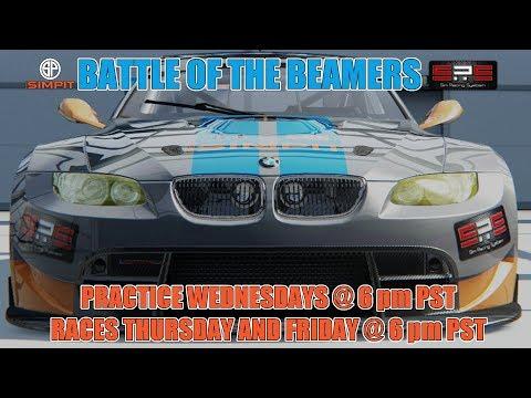 Battle of the Beamers - BMW M3 GT2 at Laguna Seca - Race 1 Week 6