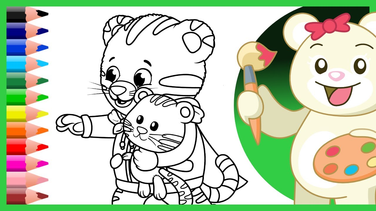 Daniel Tiger, Tigey and Miss Elaina Coloring Pages - Kids and ...