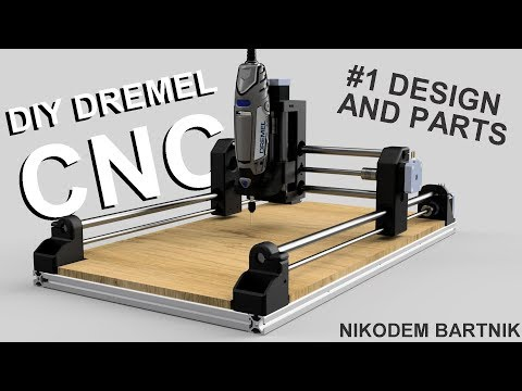 DIY Dremel CNC #1 design and parts (Arduino, aluminium profiles, 3D printed parts)