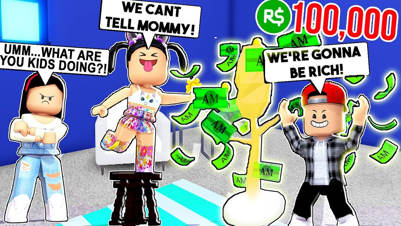 I Caught My Kids Stealing Money From My Money Tree Roblox