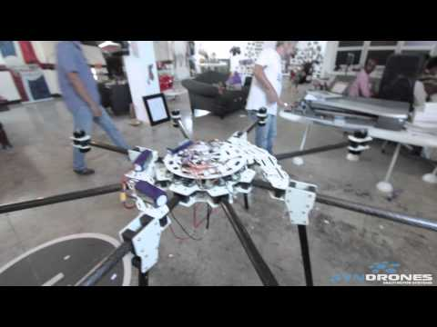 Thumbnail: WORLDS BIGGEST HOMEMADE DRONE - making of + Maiden