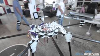 WORLDS BIGGEST HOMEMADE DRONE - making of + Maiden