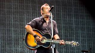 This Hard Land (Solo Acoustic) - Bruce Springsteen - Mt Smart Stadium, Auckland 2-3-2014