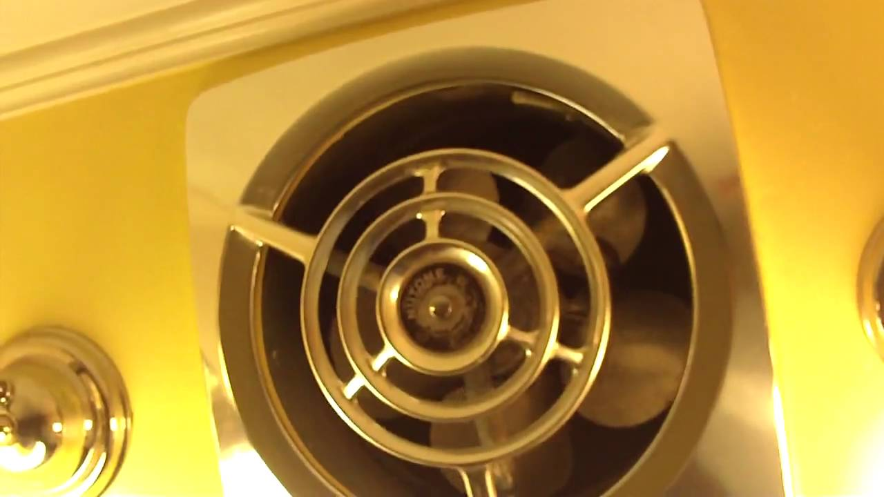vintage Nutone exhaust fan - YouTube