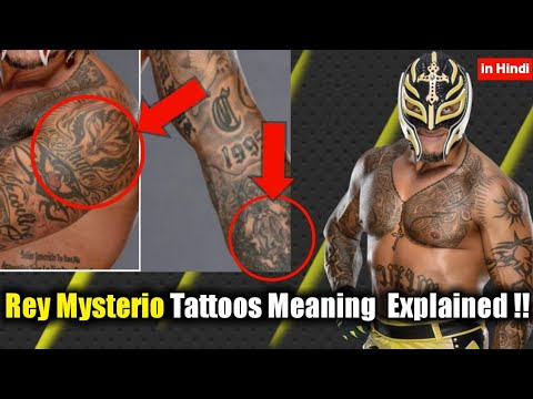 Rey Mysterio TATTOOS Meaning Explained In Hindi || Wrestle Active ||