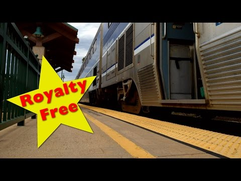 Train Station Time Lapse Royalty Free HD Stock Footage