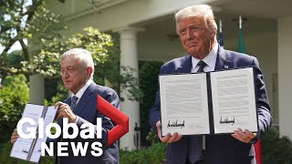 U.S. President Trump, Mexican President Obrador sign joint declaration on USMCA deal | FULL
