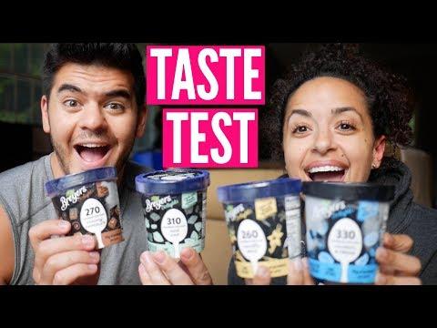 NEW BREYERS LOW CALORIE, PROTEIN ICE CREAM TASTE TEST!