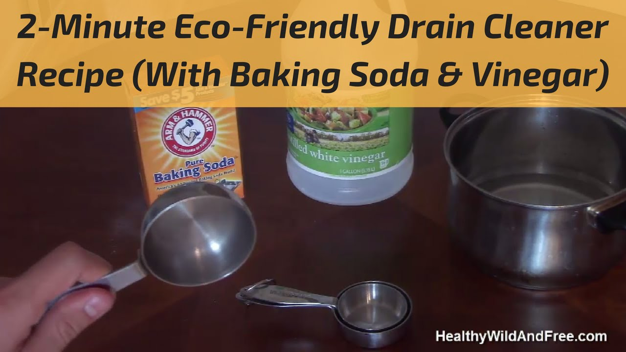 How To Unclog A Drain (Using Baking Soda U0026 Vinegar)