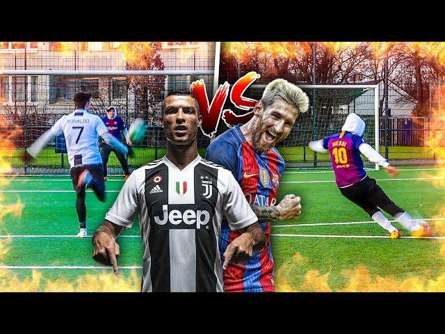 EPISCHE RONALDO VS MESSI FUßBALL CHALLENGE!!