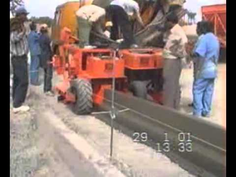 Kerb Laying Machine Youtube