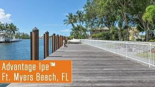 Grayed Out Advantage Ipe™ Dock (Fort Myers Beach, FL)
