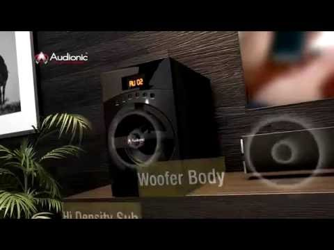 Audionic's Reborn RB - 107 Home Theater Sound Bar Speakers - Perfect match for living room interior