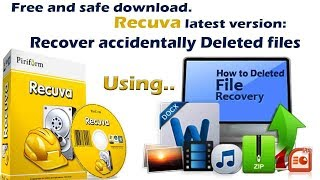 How to Recover Permanently Deleted files, using  Recuva Software for Windows