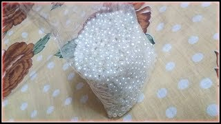 How to make Pearl Beaded Necklace || Diy || jewellery making at home || Handmade Jewellery