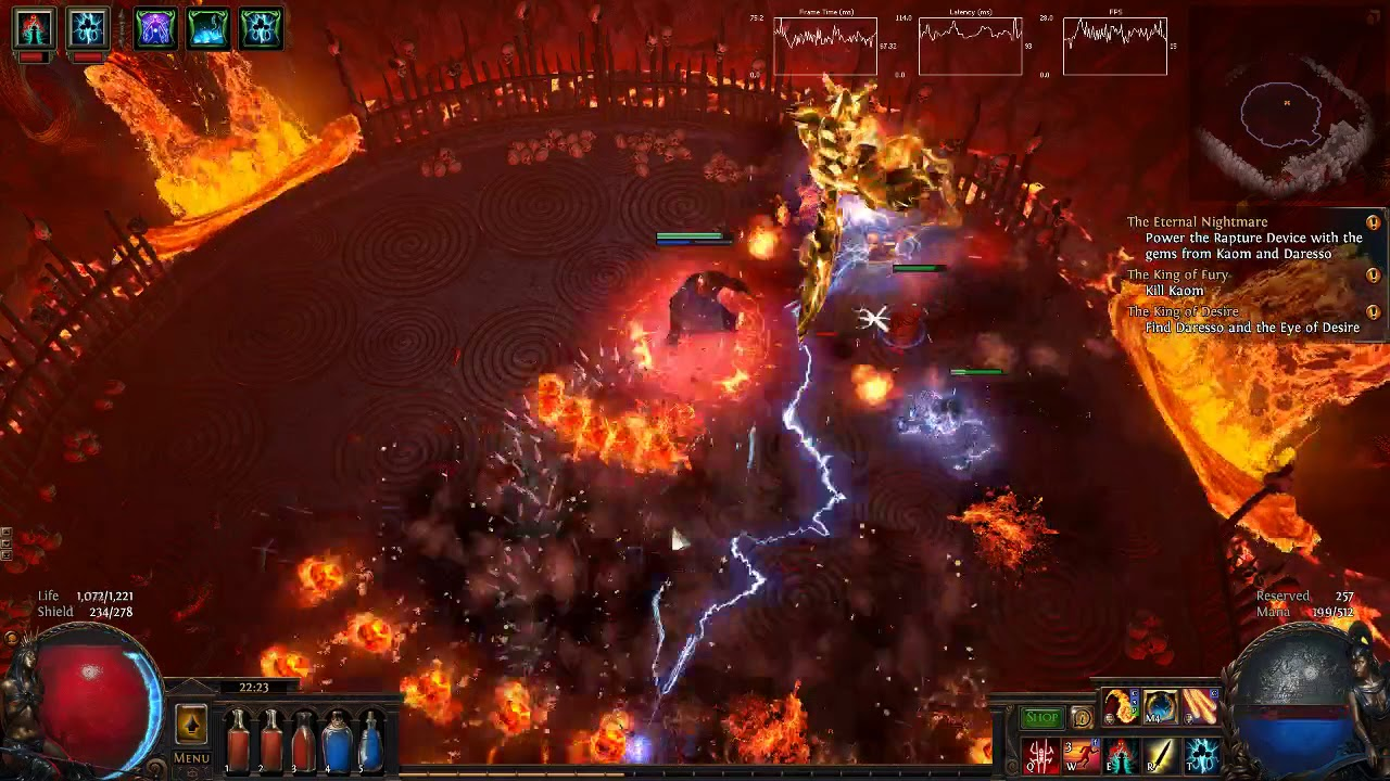 Path of Exile :: Magma Orb + GMP = FPS drop :-p