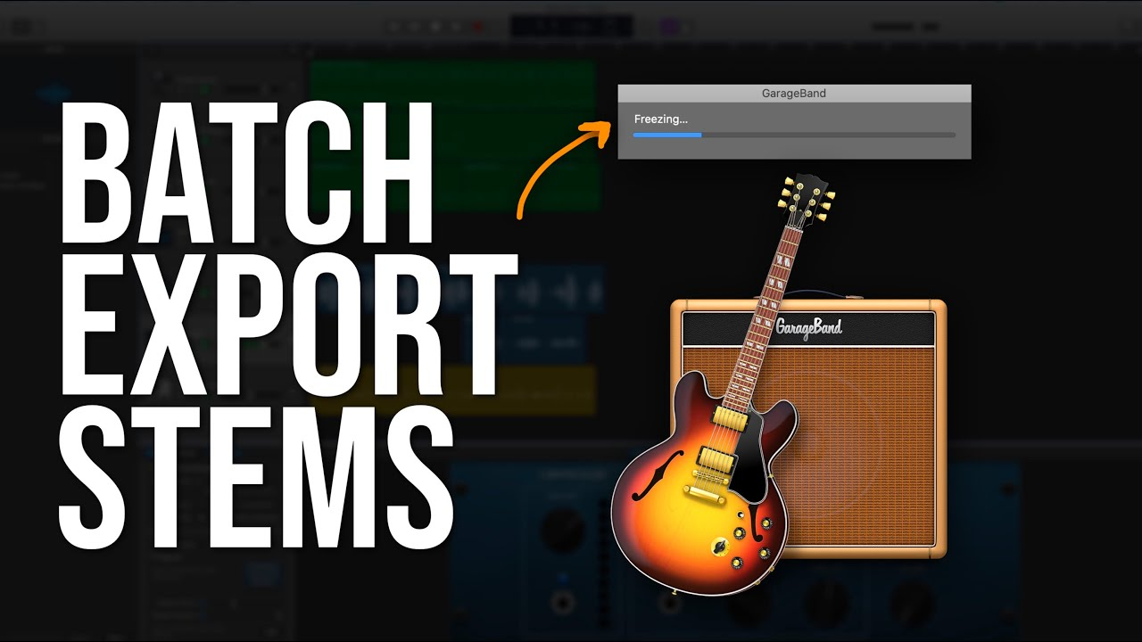 How To Batch Export Stems In GarageBand (GarageBand OS Tutorial)