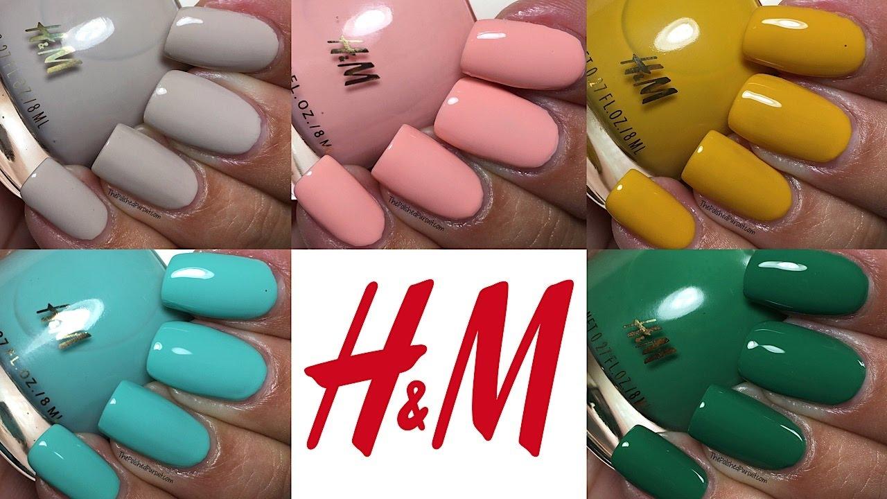 H&M Spring Nail Polish | The Polished Pursuit - YouTube