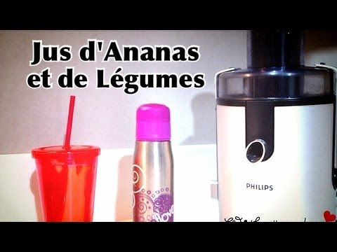 ep 131 recette jus de fruit ananas et l gumes detox r quilibrage alimentaire r gime. Black Bedroom Furniture Sets. Home Design Ideas