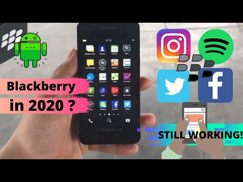 Blackberry Z10 Di Tahun 2020 ?  Working Android Apps 2020 - Instagram, Spotify And Many More.