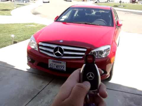 Mercedes c300 smart key operation youtube for Key for mercedes benz cost