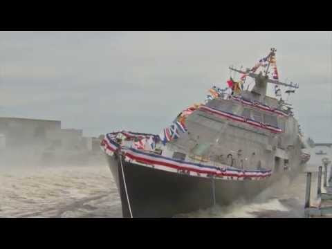 Future USS Little Rock (LCS 9) Side Launched