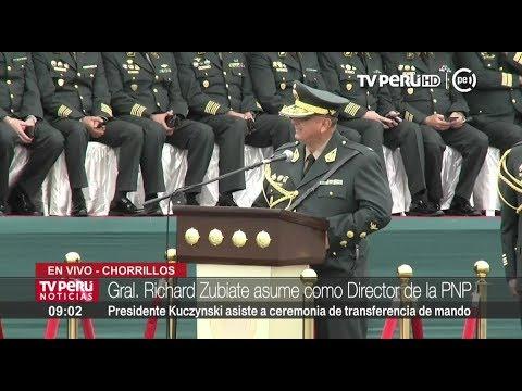 """Richard Zubiate asume la Dirección General de la Policía: """"Vamos a modernizar la institución"""""""