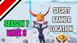 Fortnite Season 7 Week 8 Secret Banner / Battlestar Location (Snowfall Challenges)
