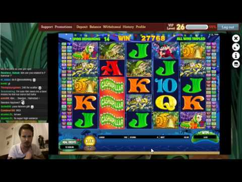 Double Bonus In Cashapillar Slot From Microgaming
