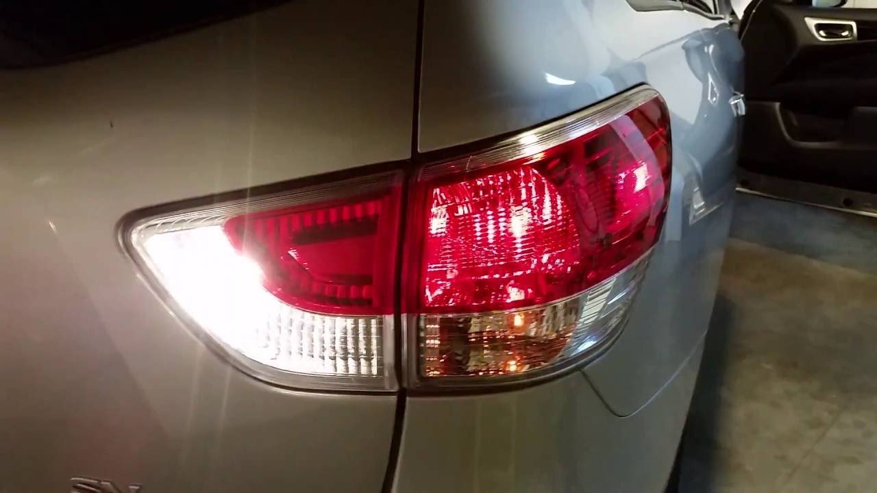 2013 2016 Nissan Pathfinder Tail Lights   Testing After Changing Burnt Out  Bulb   Brake, Turn Signal   YouTube