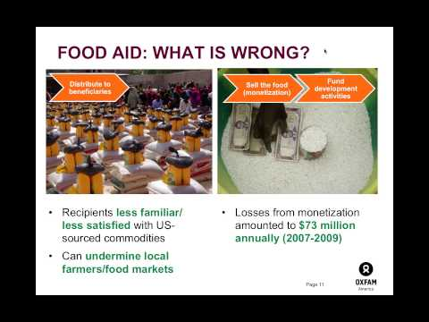 Exclusive Discussion on U.S. Food Aid Reform with Oxfam America
