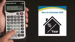 Real Estate Master IIIx Calculating APR Annual Percentage Rate How To