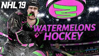 Christmas with the WATERMELONS NHL 19 3ASHL | World of Chel
