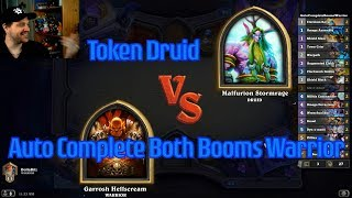 Auto-Complete Both Booms Warrior vs Token Druid | Hearthstone