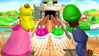 Mario Party 9 - All Free-For-All Minigames (Peach)