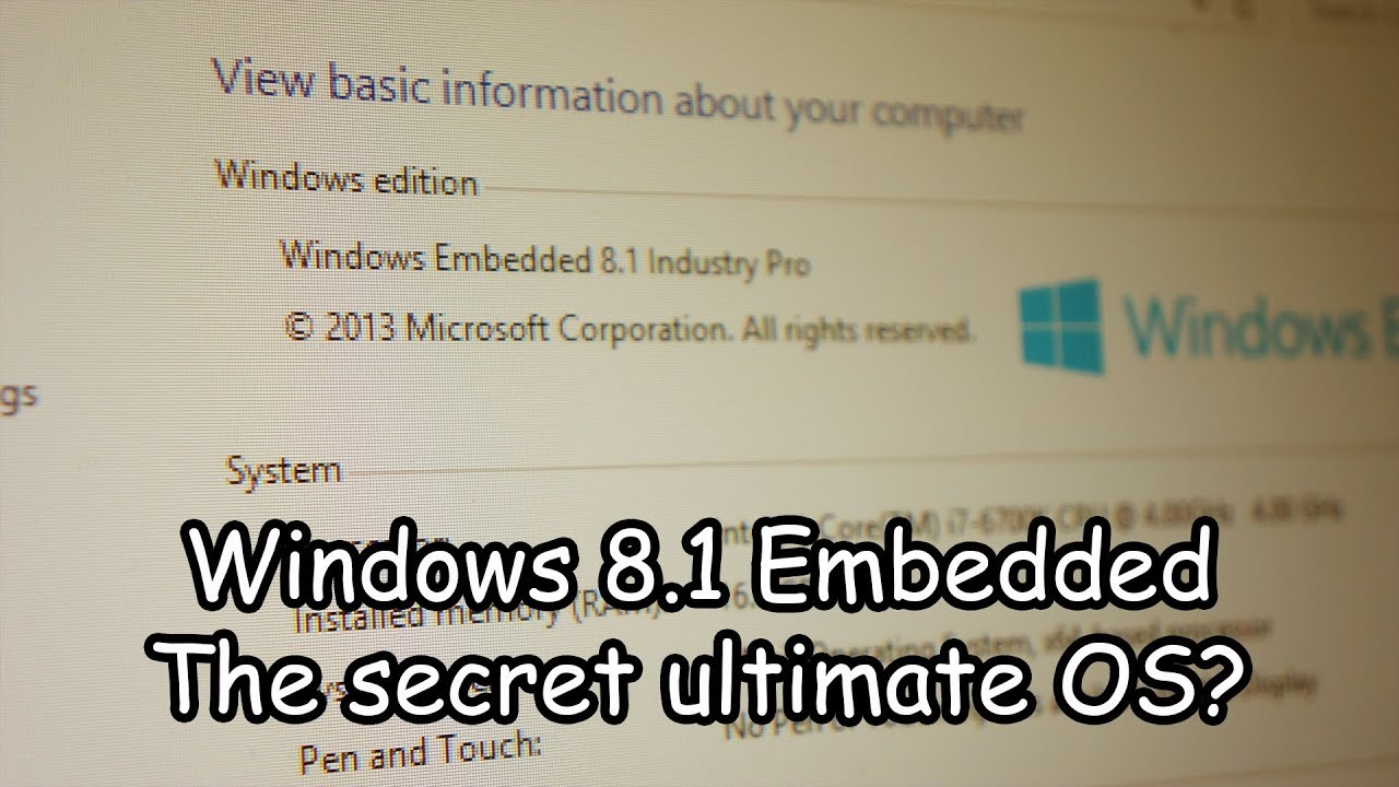 windows embedded 8.1 industry pro trial key