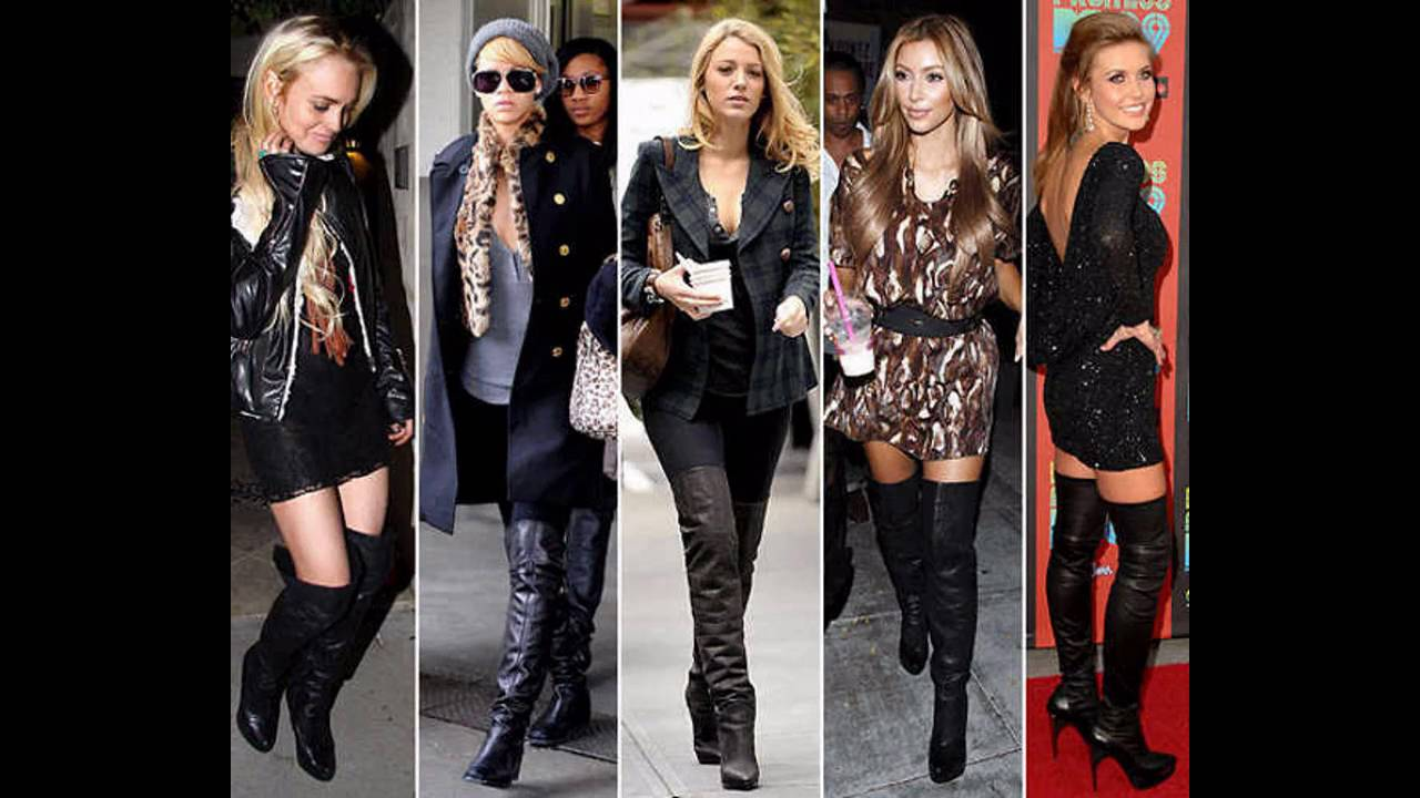 Outfits con botas cafes largas para mujer - YouTube