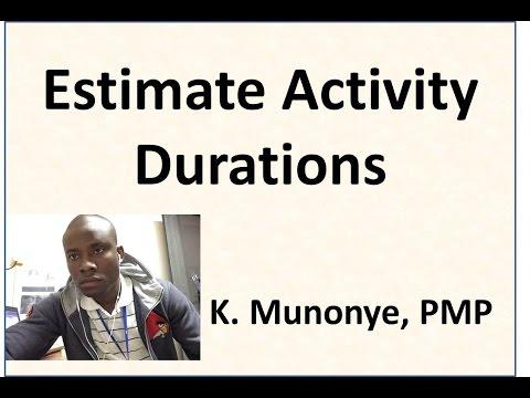 17 Project Time Management   Estimate Activity Durations