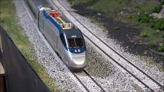 Review: New Bachmann Amtrak Acela Set w/DCC in HO Scale!