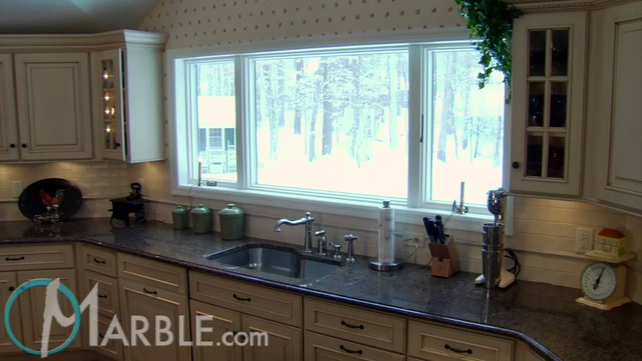 Tropical Brown Granite Kitchen Countertops by Marble.com - YouTube
