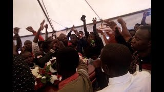 Chaos erupts at Sharon Otieno's burial as Rongo University students storm burial