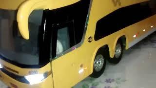 ônibus controle remoto Marcopolo G7 dois andares com barulho do Motor