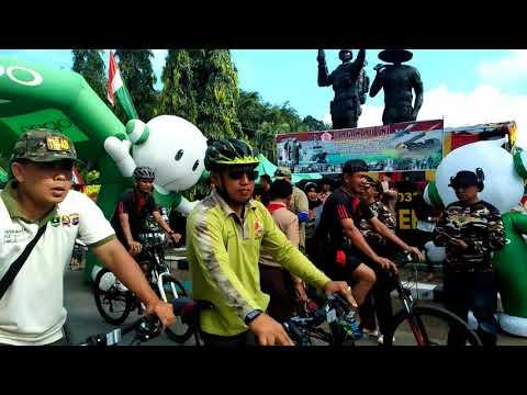 Memperingati hari HUT TNI 72 Acara bersepeda di KODIM 0310 SSD.SIJUNJUNG