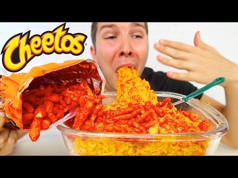 Hot Cheetos Noodle Challenge • MUKBANG