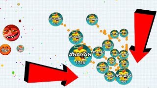Agar.io Epic Solo vs Team Dominating Agar.io Mobile Best Moments Gameplay
