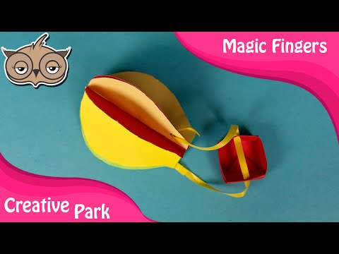 DIY Crafts - How To Make Paper Origami Hot Air Balloon