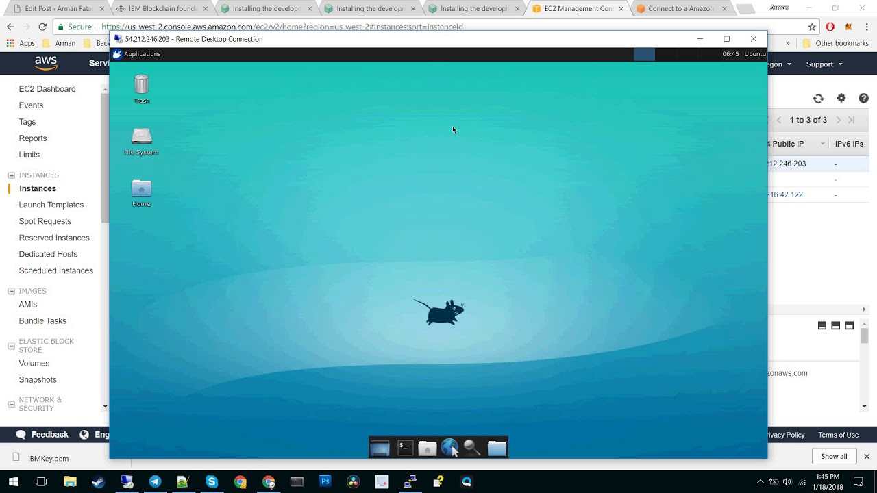 Connect to Ubuntu from windows remote desktop