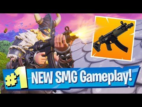 NEW SMG Submachine Gun Gameplay - Fortnite Battle Royale thumbnail