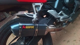 Honda CBR 250R with Akrapovic exhaust (Without DB killer)
